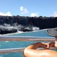 Visit the lava by boat tour