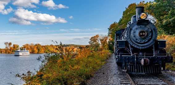 New England fall foliage essex steam train