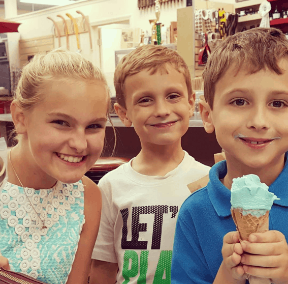 Grabbing ice cream at Loft pursuits is one of the most fun things to do in Tallhassee with kids
