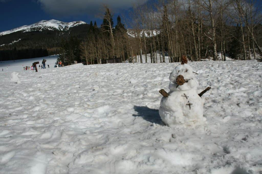 Snow play in Flagstaff with kids