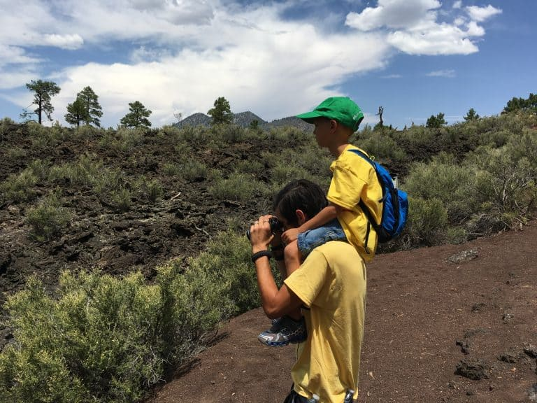 fun things-to-do-in-flagstaff-with-kids include visiting sunset crater