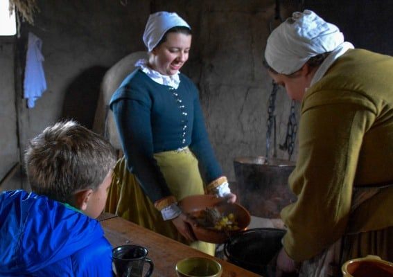 plimoth plantation in Plymoth, MA