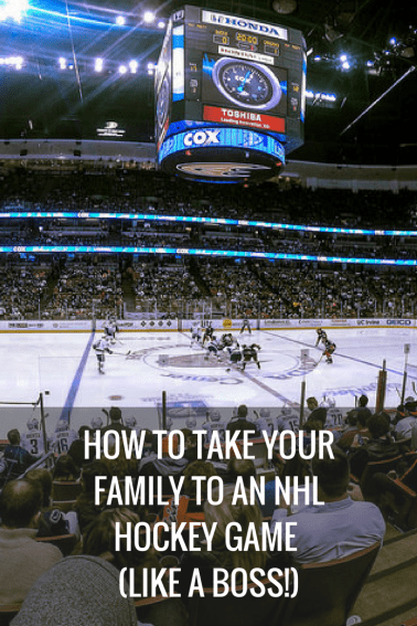We share details on where to sit, what to bring, when to come, what to eat, and so much more for an NHL Hockey Game with your family.