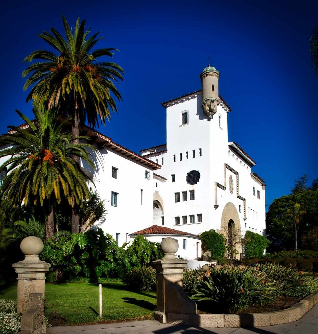 Santa Barbara courthouse is a good place to visit in Santa Barbara