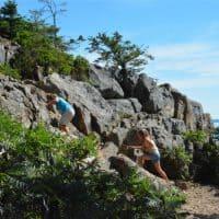 Hiking Great Head Trail Acadia National Park