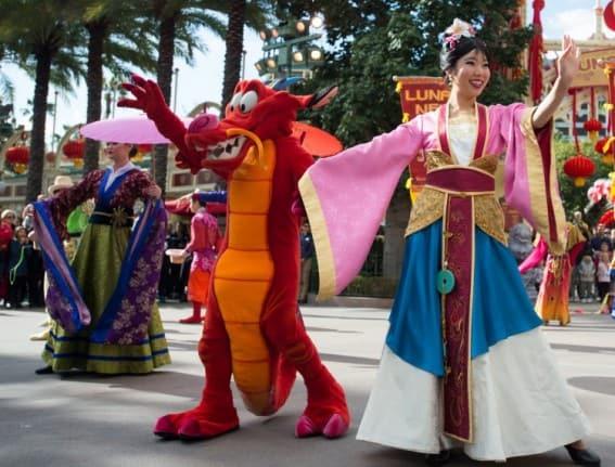 Mulan's Lunar New Year Processional
