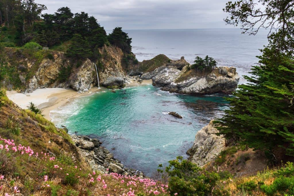 McWay falls on the Big Sur Coast is a must see when visiting California with kids.