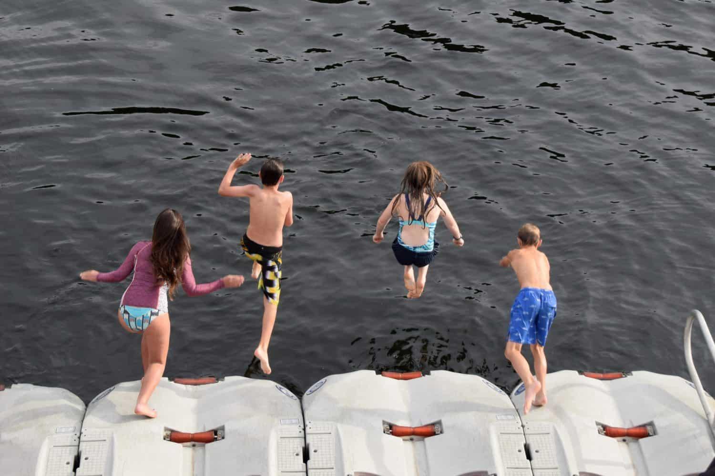 Uncruise Alaska Small Ship Alaska Cruise with kids polar bear plunge