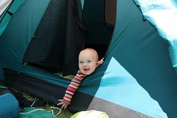 baby camping