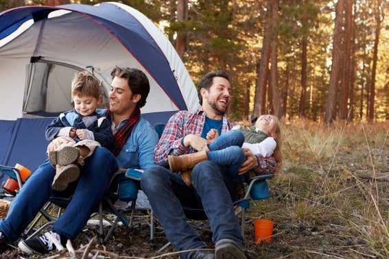 How to get your child to sleep while camping