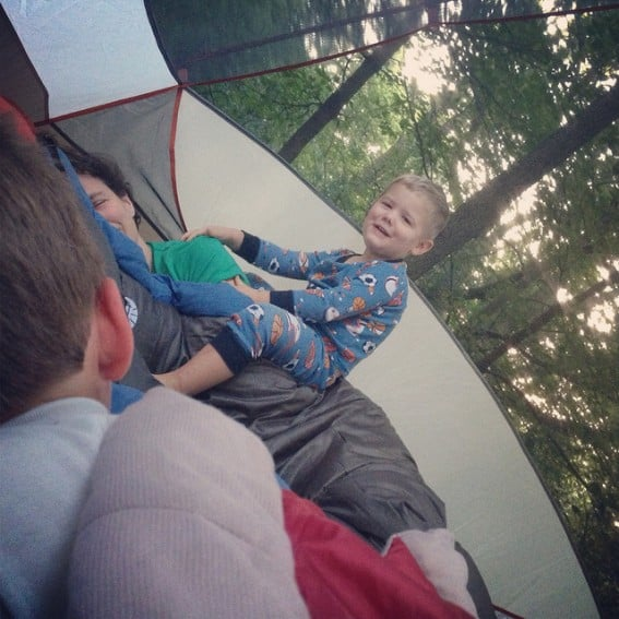How moms and dads can get some sleep while camping