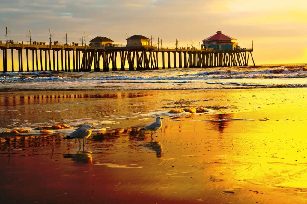 Huntington Beach is one of the beaches in California