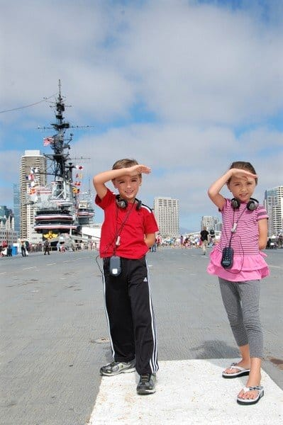 Things to do in San Diego with kids include a visit to the Midway
