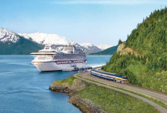Alaska Cruise Denali Explorer land tours include travel time on the Alaskan Railroad, a classic train experience.