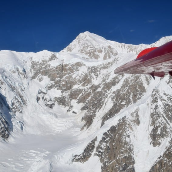 Views of Denali are at their best from an air-based excursion during an Alaska Cruise