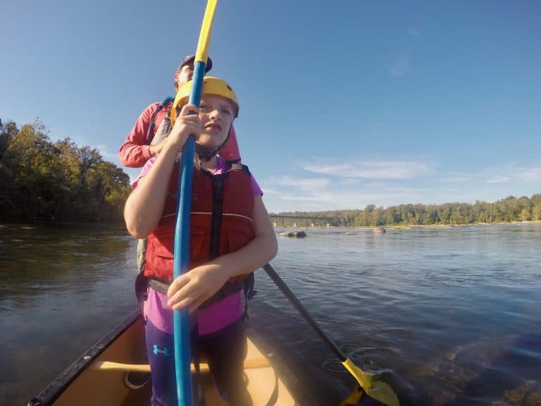 Things to do with kids in Richmond, VA canoeing the James River