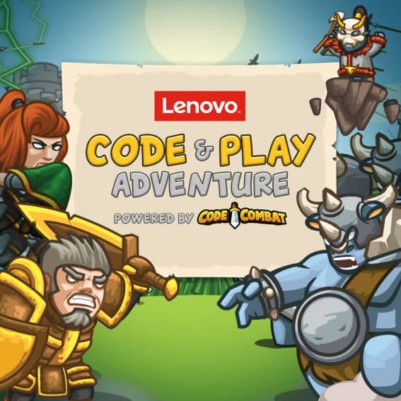 Play Lenovo Code & Play Adventure on a new Lenovo Yoga Book 2-in-1 Tablet to teach your kids to code