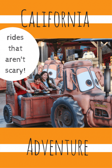 rides at California Adventure that won't scare little kids easily