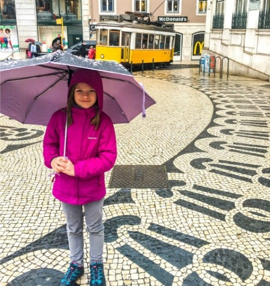 even with ominous storm clouds looming we enjoyed walking the Rua Augusta down to the Placa do Comercio.