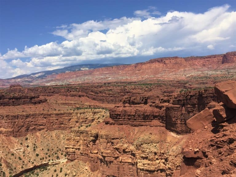 Views from Panorama Point in Capitol Reef National park