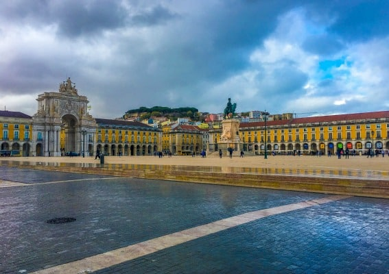 The black and white stone mosaic artwork on the city's squares and walkways is both beautiful and uniquely Lisbon.