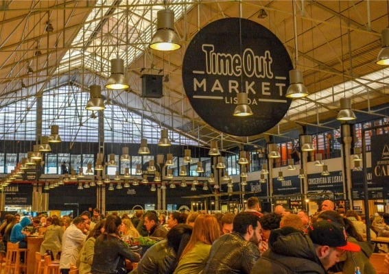 Time Out Market is a large traditional European market converted into a sophisticated food court.