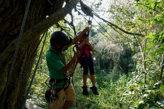 Nicaragua with Kids zip lining