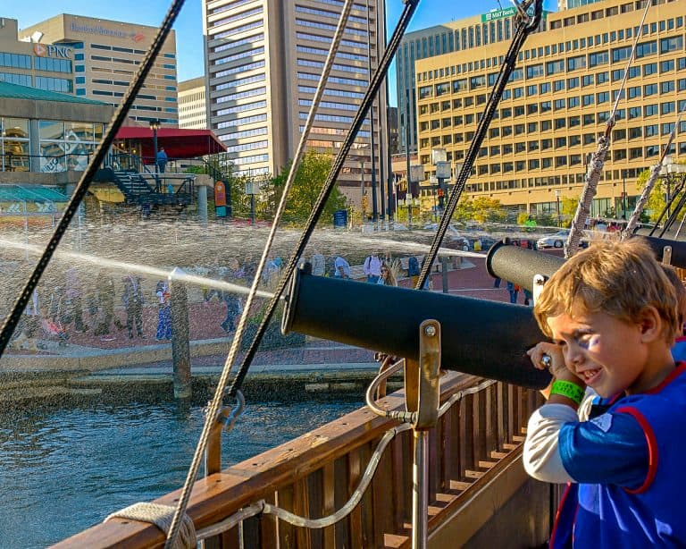 Fun Things to do in Baltimore with Kids Urban Pirates Cruise