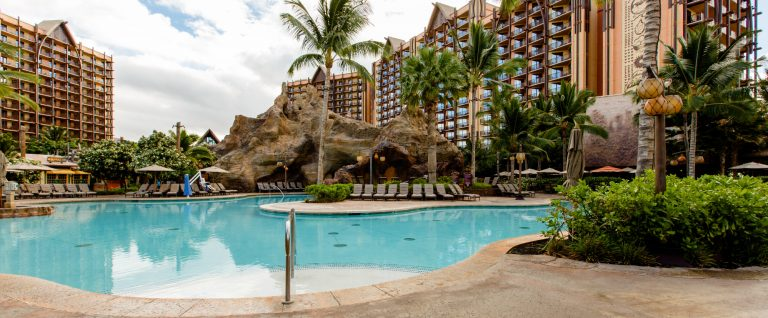 Best Hotel Pools include the Aulani