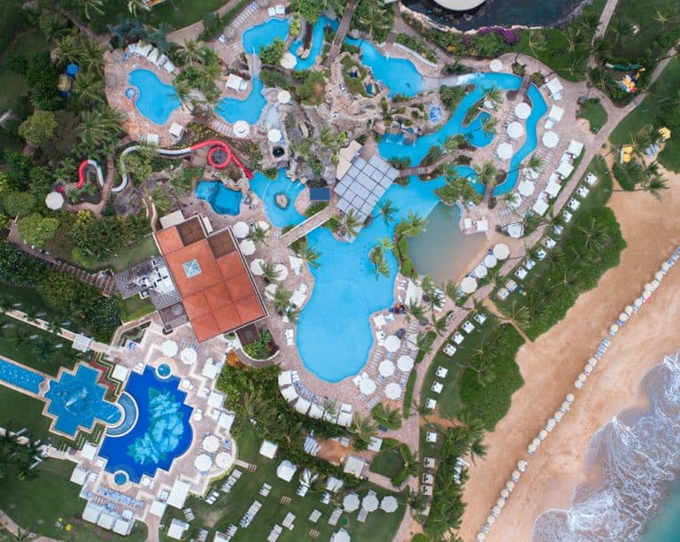 The Best Hotel Pools in Maui include the Grand Wailea