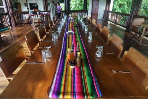 costa rica eco-lodge dining