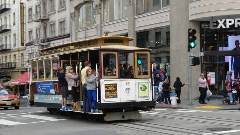 Ride a cable car in San Franciso with kids