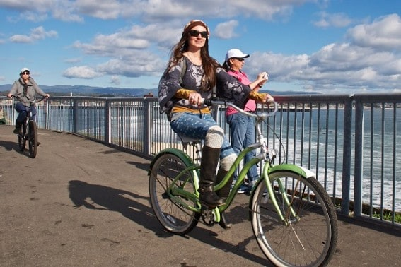 Ride a bike in Santa Cruz