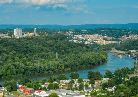 Overlooking Morgantown, West Virginia