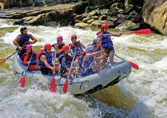 Rafting in Morgantown, West Virginia