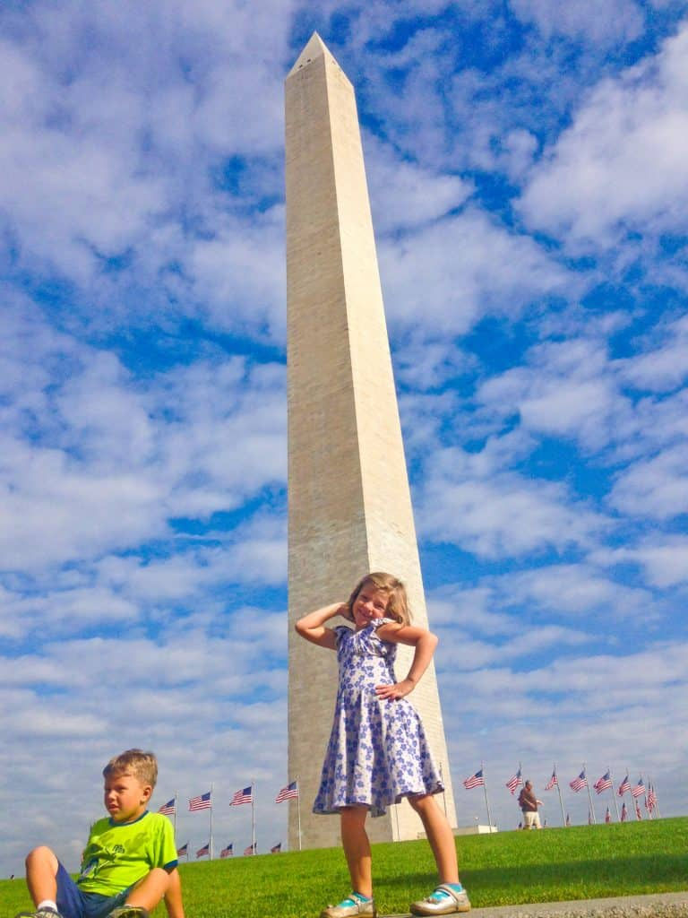 Washington Monument with Toddlers
