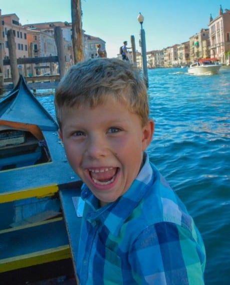 Gondola Venice Italy Kid