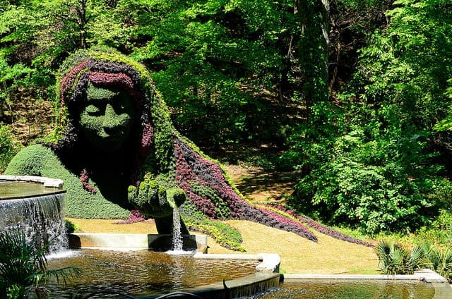 things to do in Atlanta with kids include a visit to the Botanical Gardens