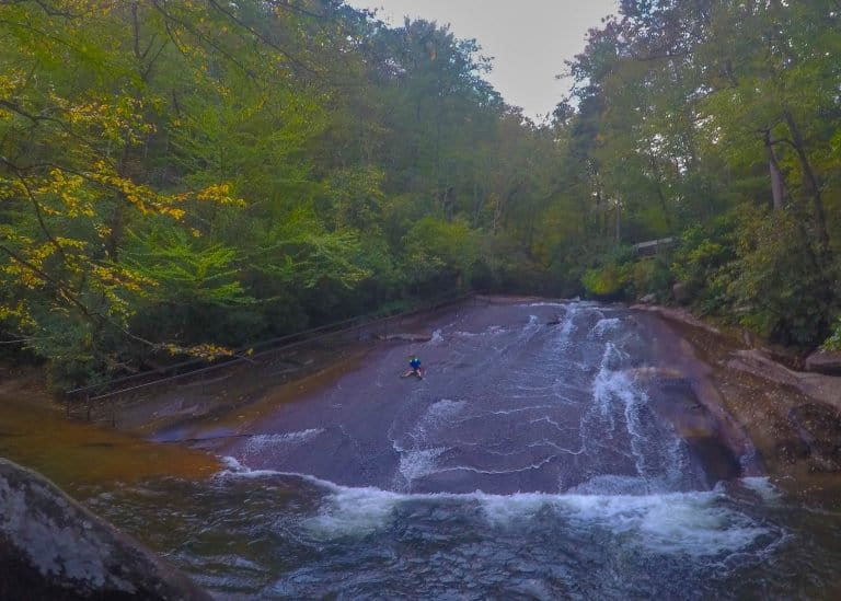 Things to do in North Carolina with Kids Sliding Rock Waterfall