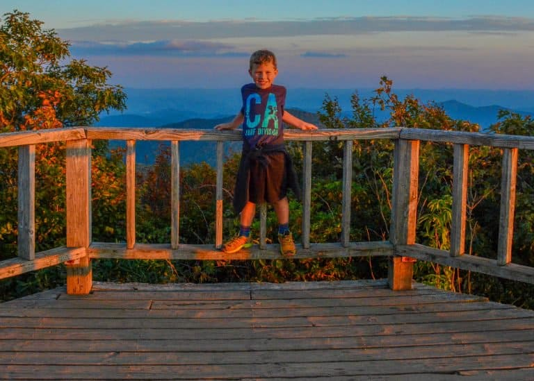 Blue Ridge Parkway NC with Kids Hiking Near Asheville