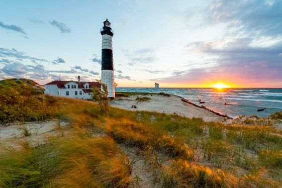 Big Sable Lighthouse in Ludington, Michigan