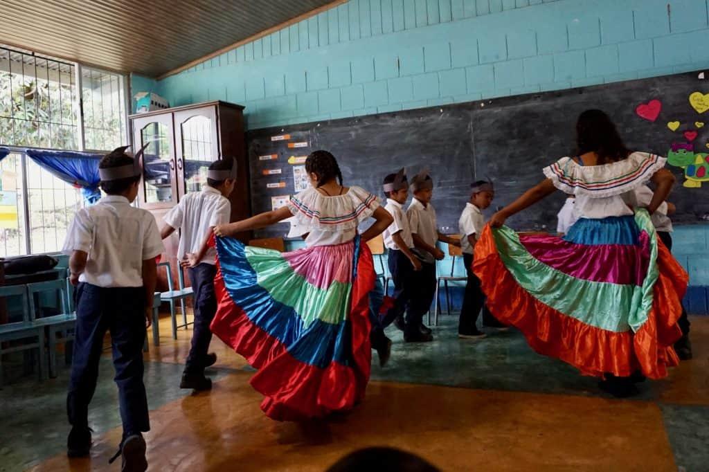 Costa Rica School Visit Kids Dancing