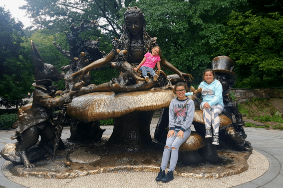 Alice in Wonderland Statue, just one of many amazing statues in NYC's Central Park