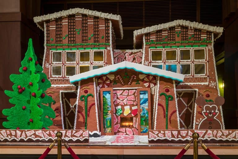 Christmas at Disneyland Gingerbread House