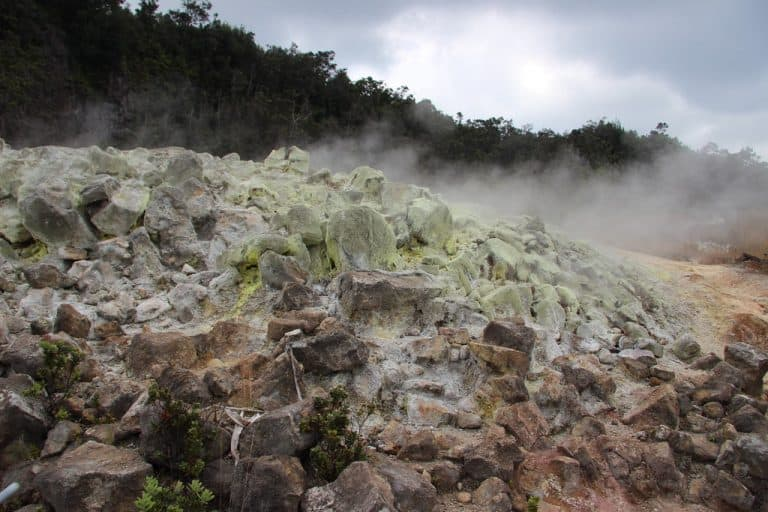 Things to do at Hawaii Volcanoes National Park include visiting the Sulphur Banks