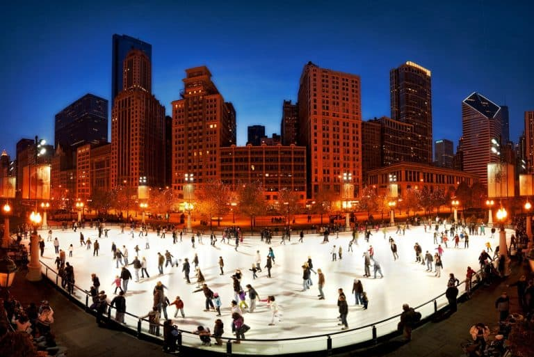 Christmas in Chicago ice skating