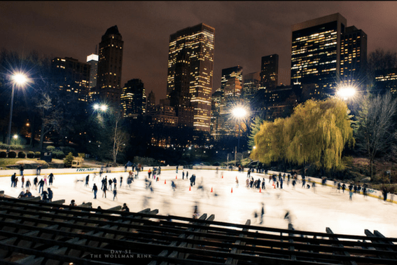 NYC Central Park Ice Skating at Wollman Rink