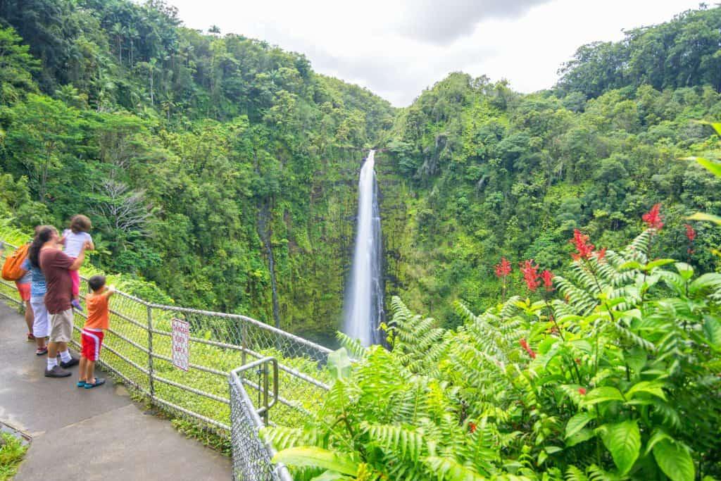 Hawaii with kids at Akaka Falls