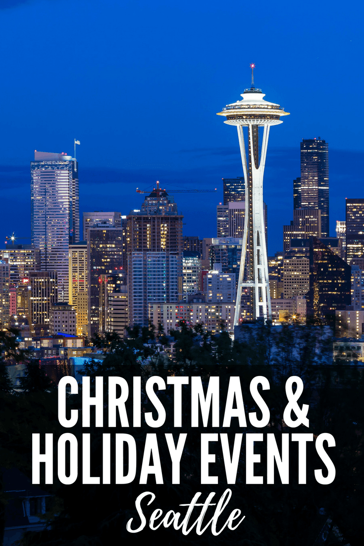 Celebrating the holidays in #Seattle? Find out which events join Winterfest, the Westlake Park Holiday Carousel and the Woodland Park Zoo Wildlights on our list of Christmas Events in Seattle! #familytravel #Seattle #Christmas