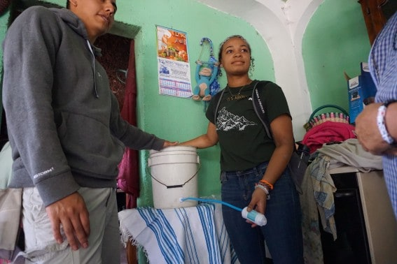 Delivering and installing water filters in Guatemala.